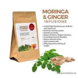 Moringa and ginger infusion