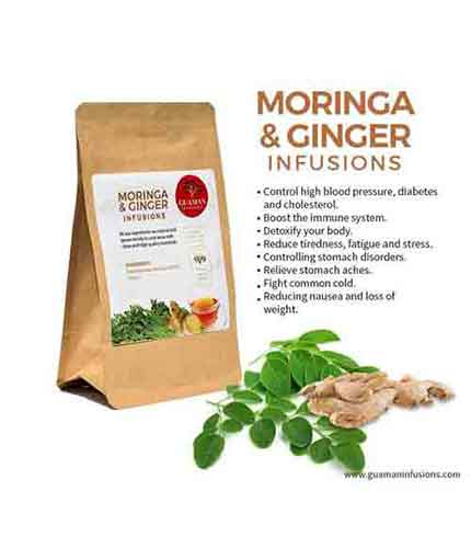 Moringa and ginger infusion