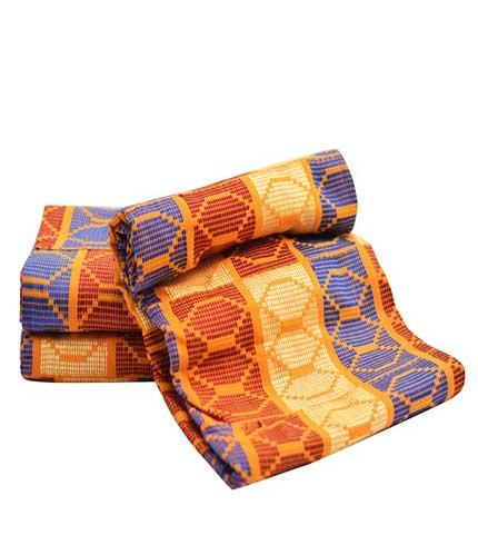 kente cloth made in Volta region