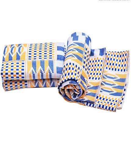 Royal blue original kente from agbozume