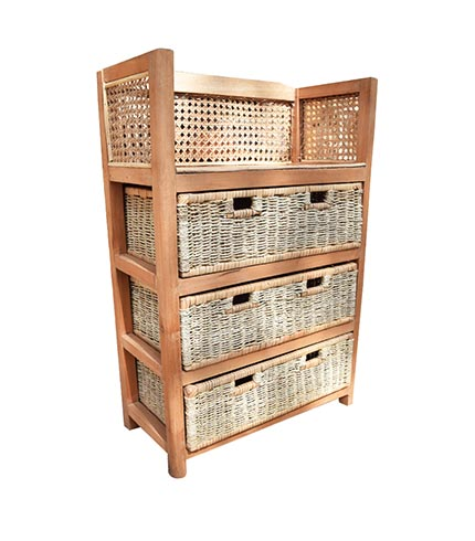 wooden woven drawer