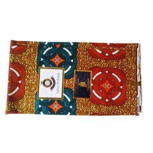 Julius Holland African Print Cloth - Brown & Blue