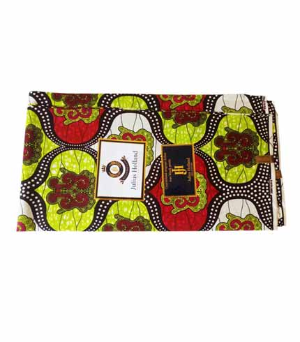 Julius Holland African Print Cloth - Green & Red
