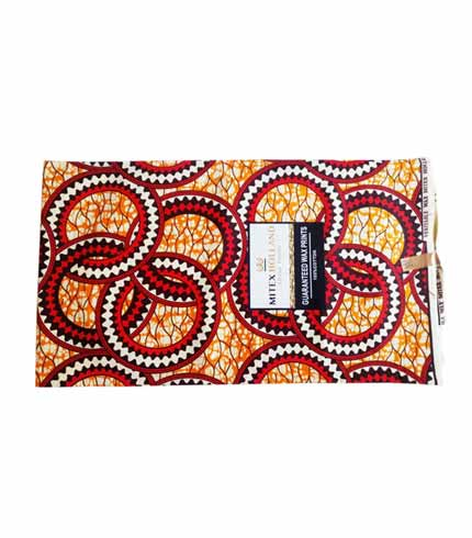 Mitex African Print Cloth - Orange