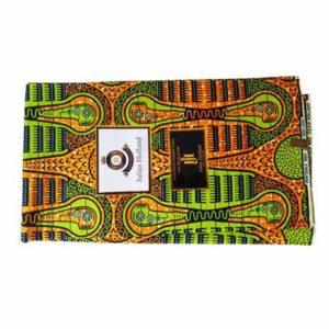 Julius Holland African Print Cloth - Orange & Green
