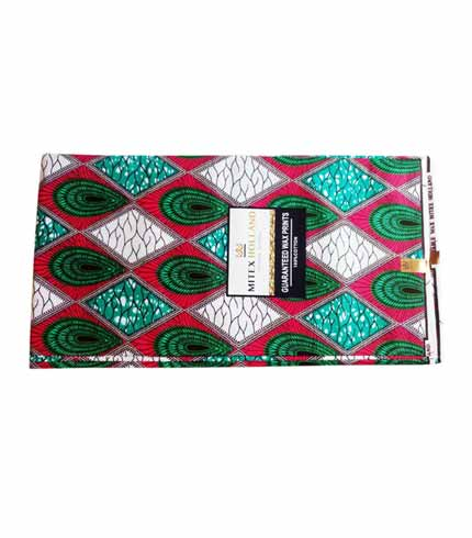 Mitex African Print Cloth - Pink & Green