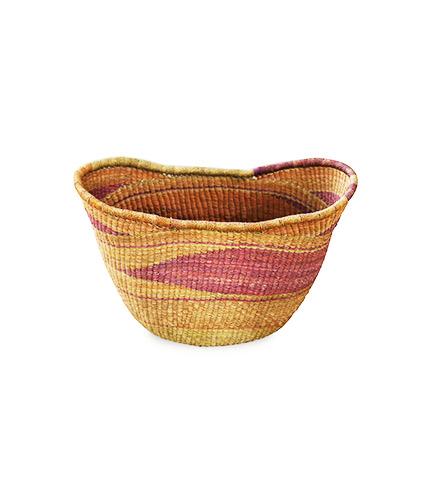 Multicolored Hand-Woven Basket