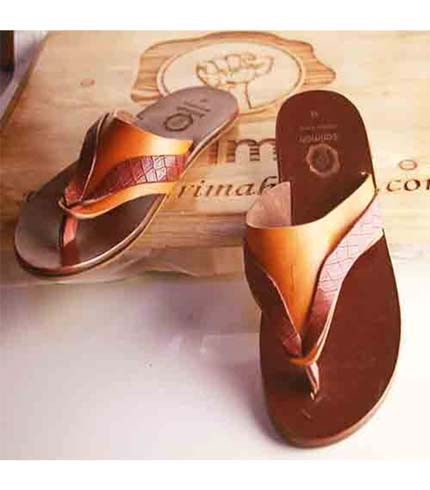 Executive Leather Sandals - Brown