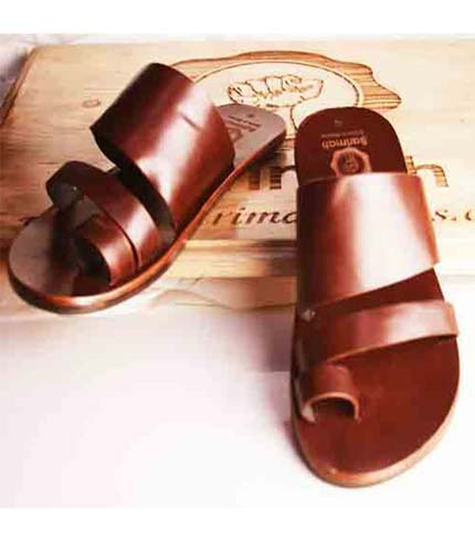 Executive Leather Sandals - Coffee Brown