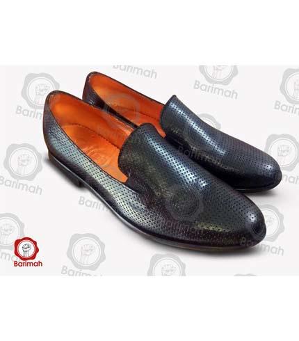 Leather Slip-On Shoes - Black