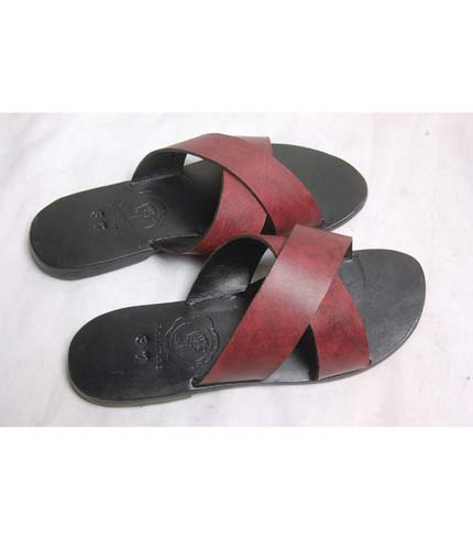 Leather Sandals - Brown & Black