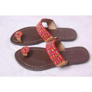 Ladies Beaded Slippers