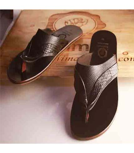 Executive Leather Sandals - Dark Brown