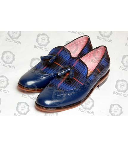 Navy Blue Tassel Shoe