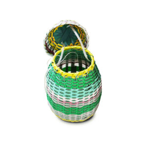 Hand-Woven Laundry Basket - Green