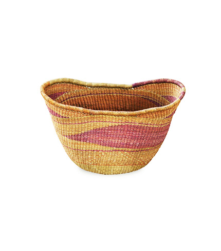Multicolored Hand-Woven Basket