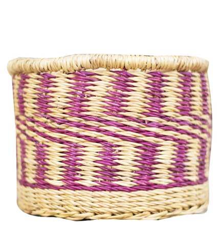 Straw Storage Basket - Purple Design
