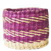 Straw Storage Basket - Violet Design