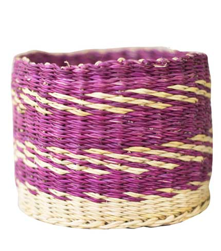 Straw Storage Basket - Violet Design