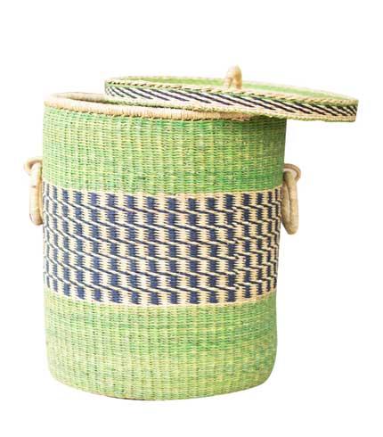 Straw Storage Basket - Green Design