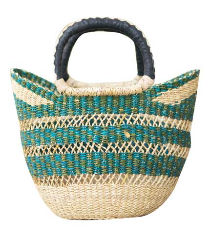 Hand Woven Ladies Bag - Green Design