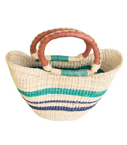Hand Woven Ladies Bag - Green & Blue Design