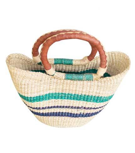 Hand Woven Ladies Bag - Green & Blue Design