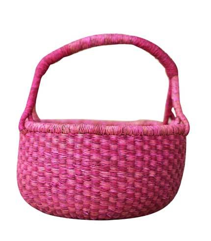 Hand Woven Basket - Violet Design