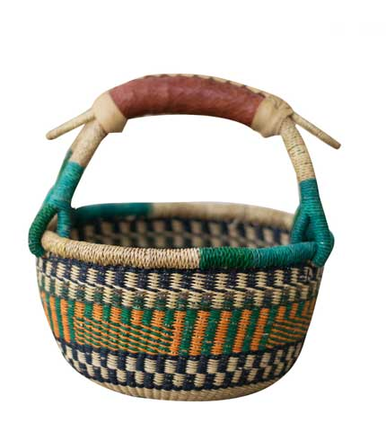 Green Hand-Woven Basket