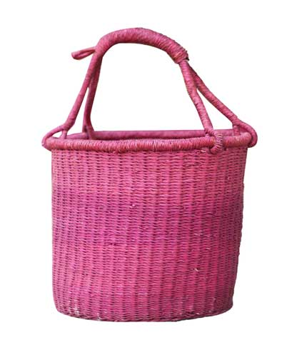 Circular Hand Woven Basket - Violet