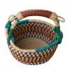 Yellow Hand-Woven Basket
