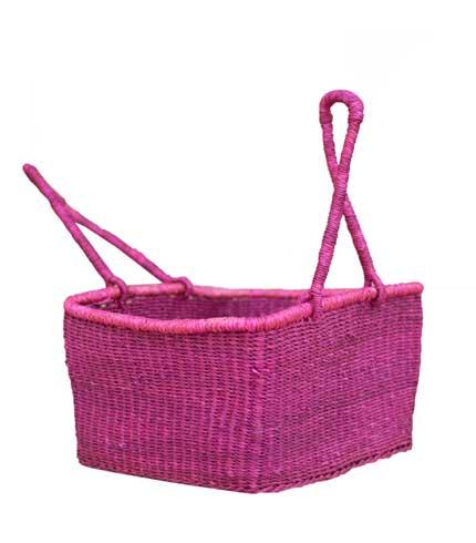 Rectangular Hand Woven Basket - Violet