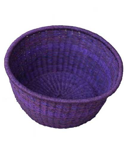 Purple Woven Basket