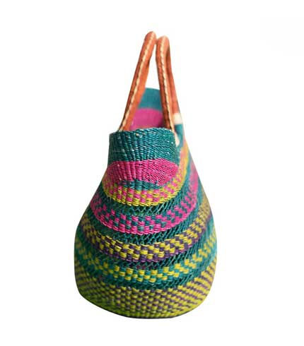 Multicoloured Hand Woven Ladies Bag