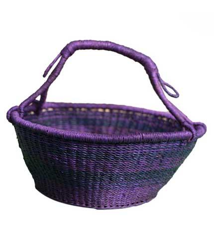 Violet Hand Woven Basket