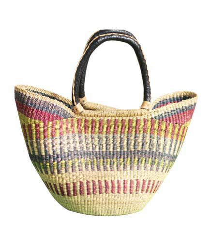Hand Woven Ladies Bag - Brown & Green