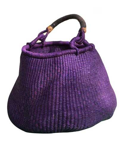 Hand Woven Ladies Bag - Violet