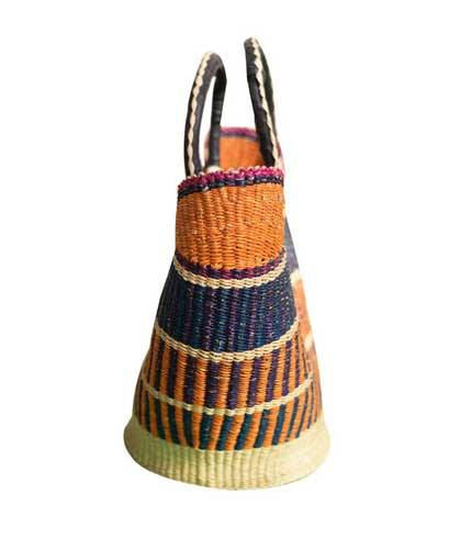 Hand Woven Bag - Brown & Blue