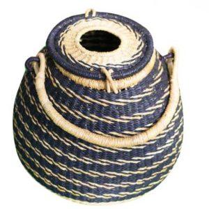 Blue Hand Woven Basket