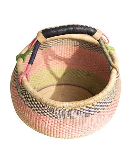 Pink Hand Woven Basket