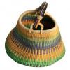 Green Hand Woven Basket