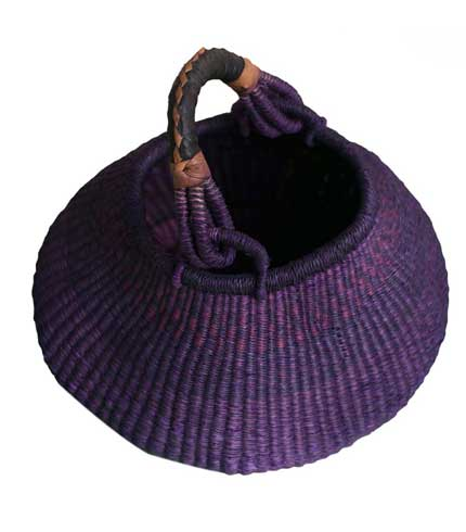 Purple Hand Woven Basket