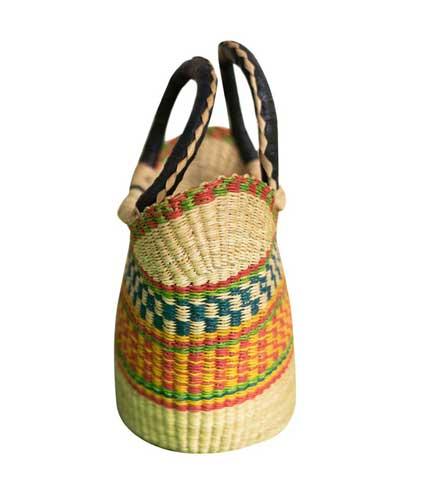 Orange & Green Hand Woven Bag