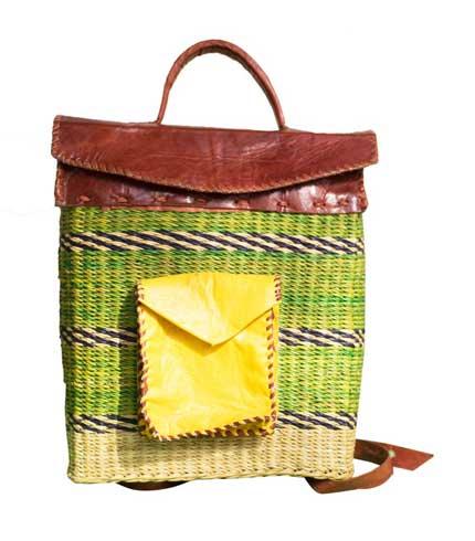 Green Hand Woven Bag