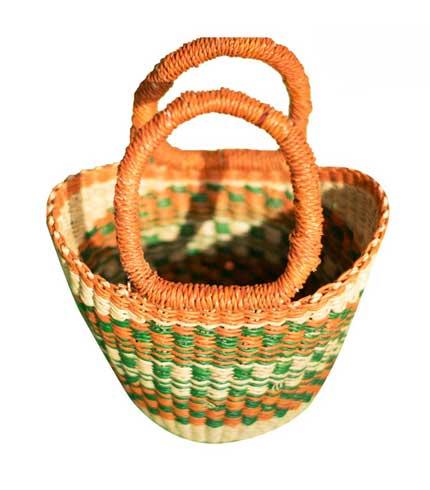 Green Hand Woven Mini Bag