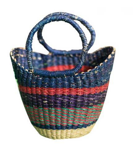 Blue Hand Woven Mini Bag