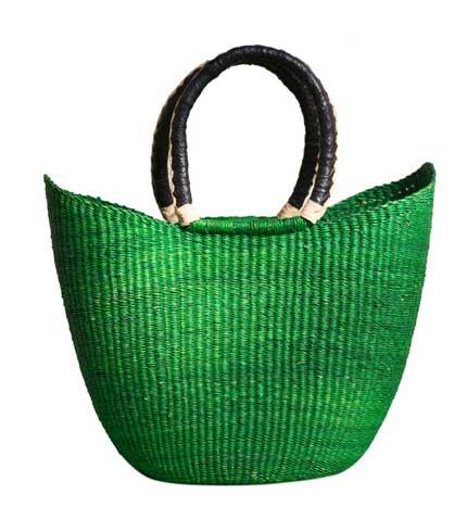 Green Hand Woven Ladies Bag