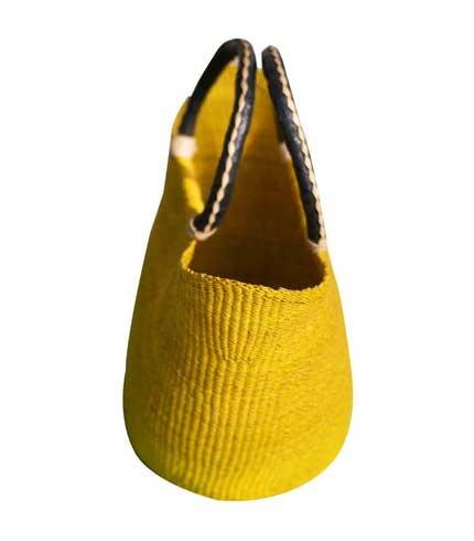 Yellow Hand Woven Ladies Bag