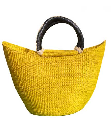 Yellow Hand Woven Ladies Bag