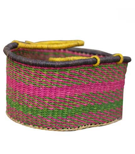 Pink Hand-Woven Basket
